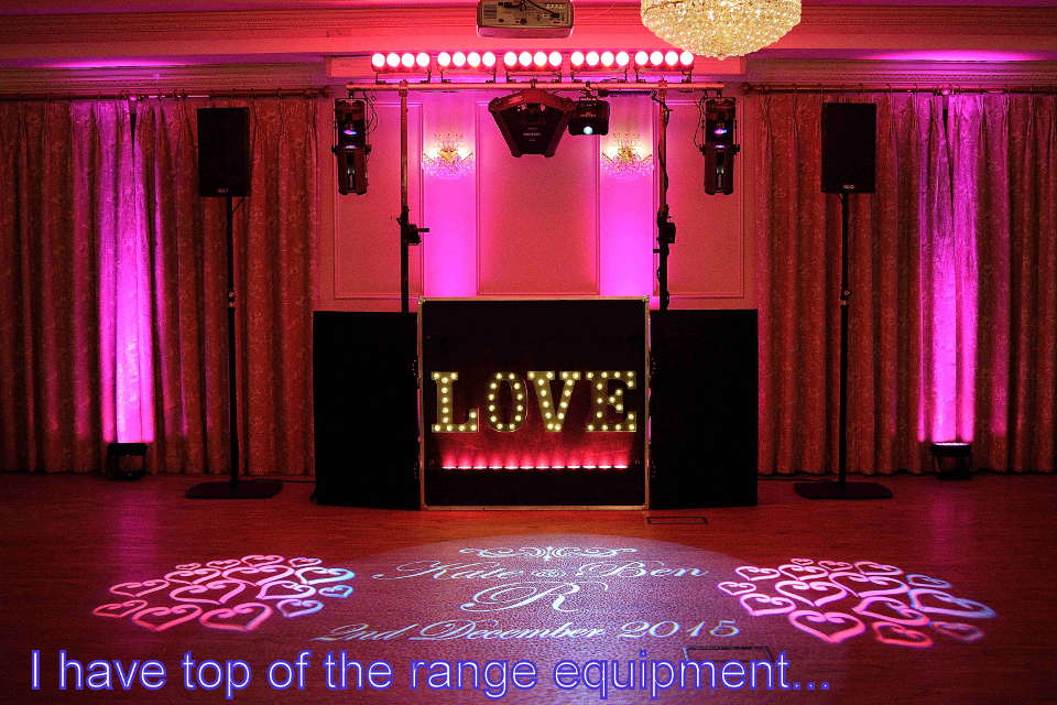 I have top of the range equipment - DJ Martin Lake
