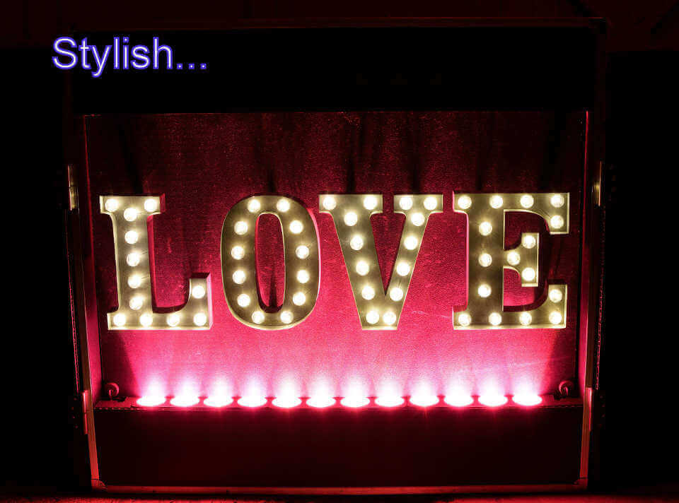 Pink Love Letter DJ Booth Hampshire