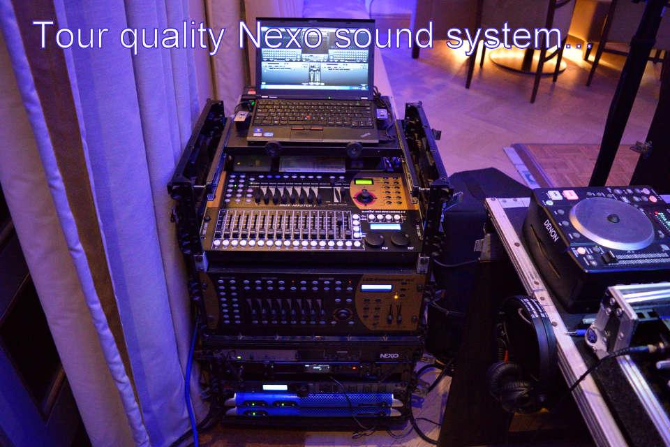 Tour Quality Nexo Sound System, Hampshire