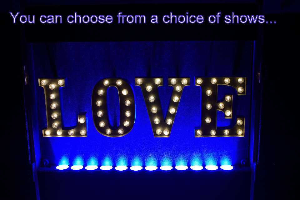You can choose from a choice of disco shows