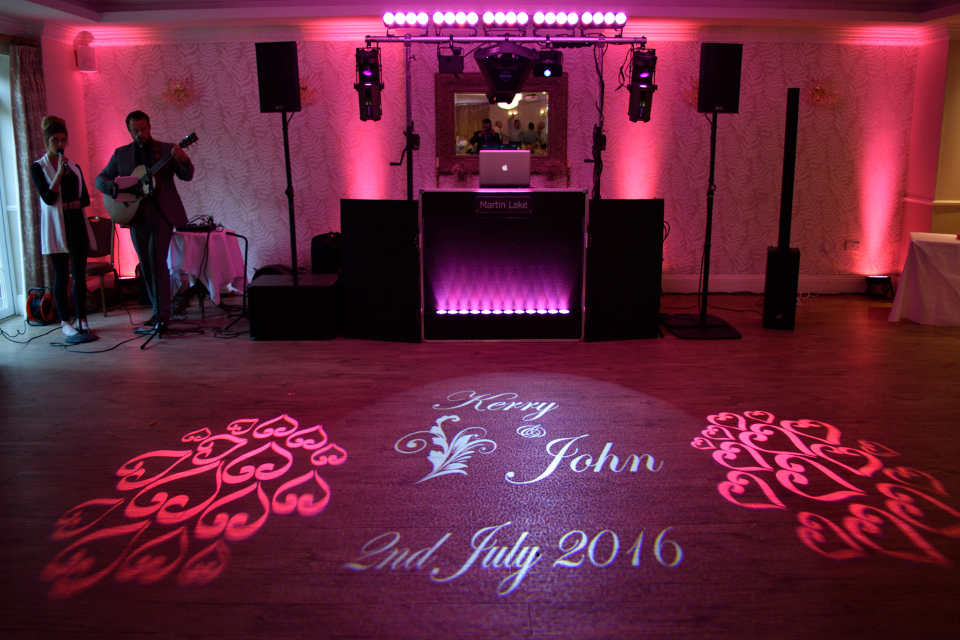 The Laser Show with Uplighting & Monogram