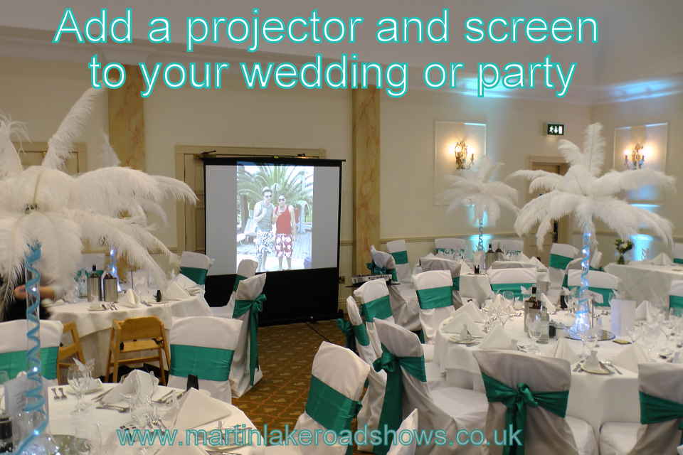 A Projector For Wedding Slideshows