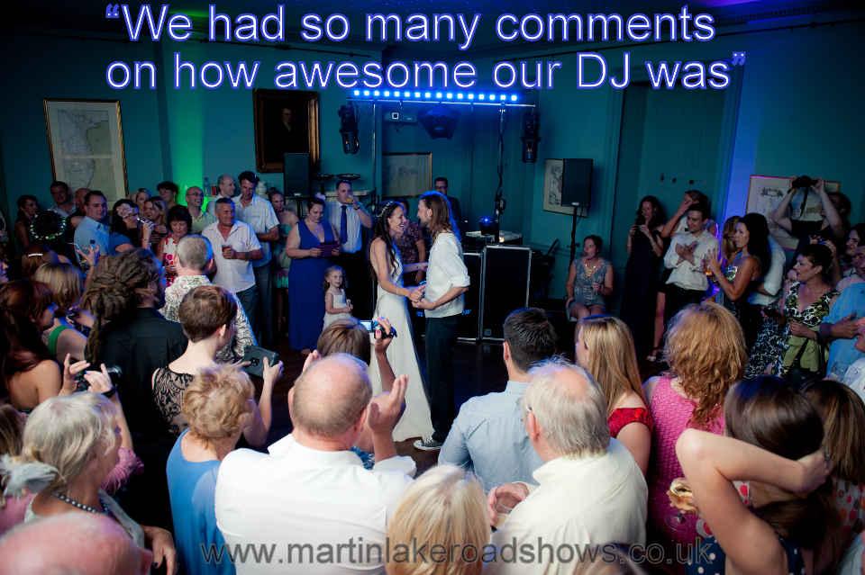 Tom & Ali - Hampshire Wedding DJ Martin Lake Review
