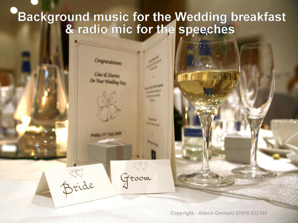 I Can Play Music For Your Wedding Breakfast