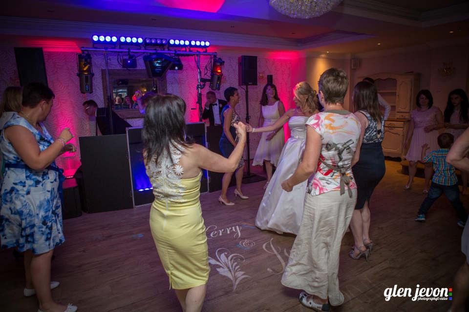 Wedding Disco At The Beaulie Hotel With Wedding Monogram & Uplighting