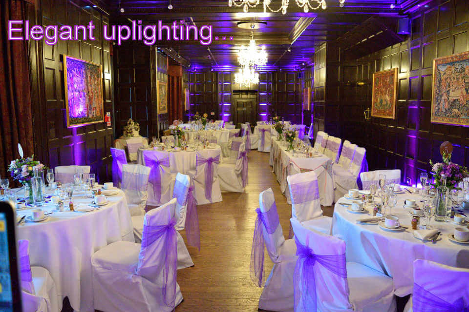 Elegant Uplighting At Bartley Lodge