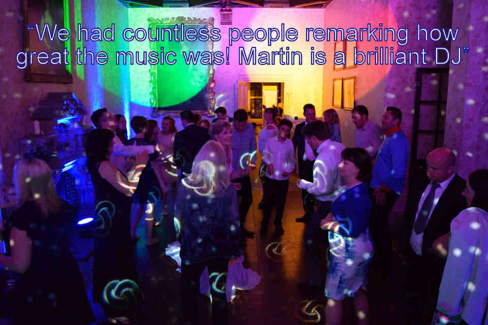 Nigel & Jane - Hampshire DJ Martin Lake Review