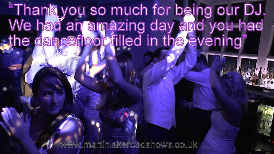 Helen & Paul - Hampshire Wedding DJ Martin Lake Review