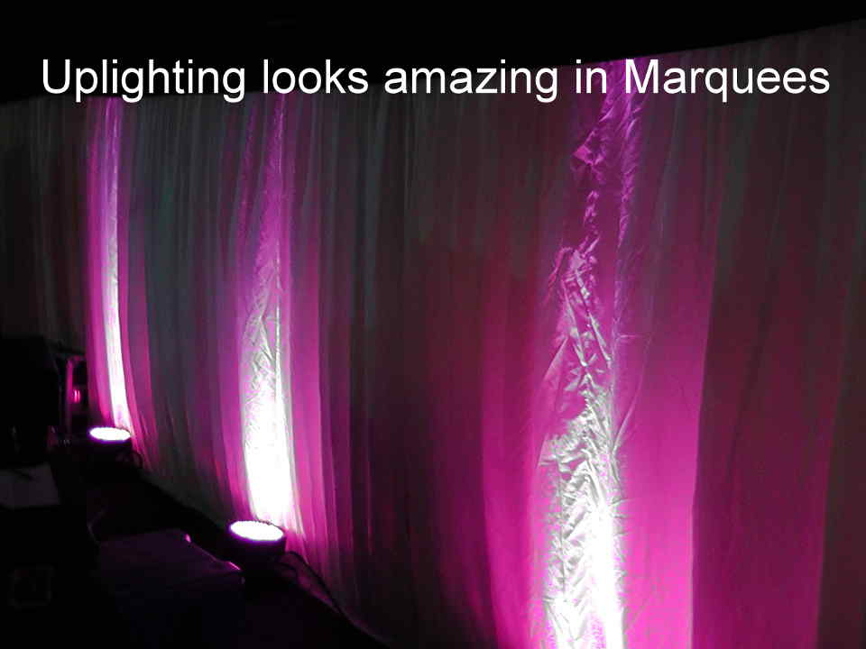Marquee Uplighting - DJ Martin Lake