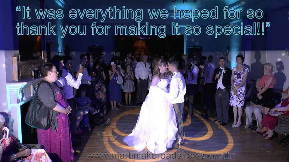 Martin & Amy - Hampshire Wedding DJ Martin Lake Review
