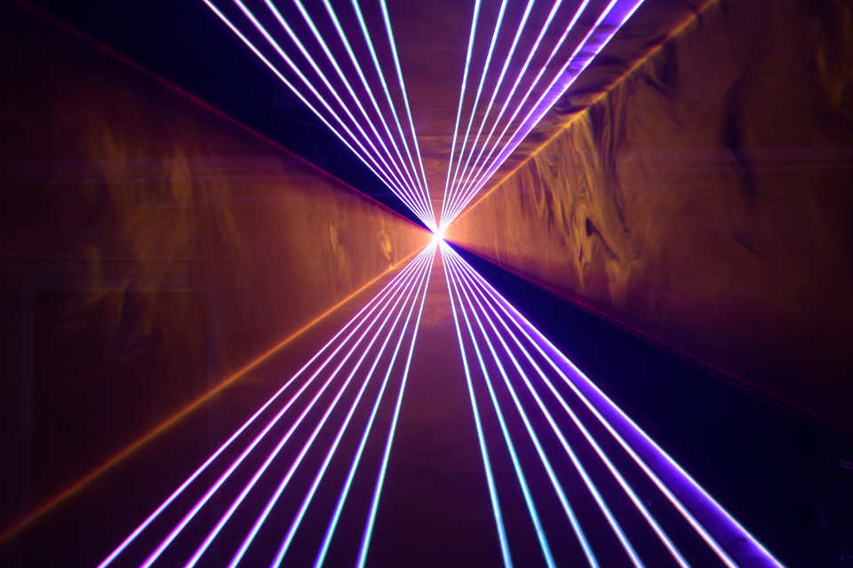 Laser Lightshow - Swisslas 1800 - DJ Martin Lake