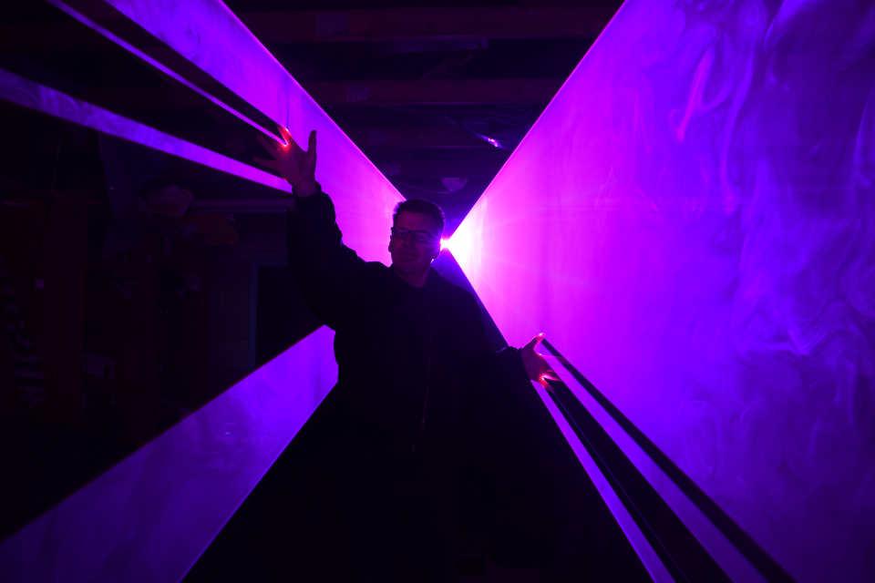 Laser Photo Shoot 2 - DJ Martin Lake