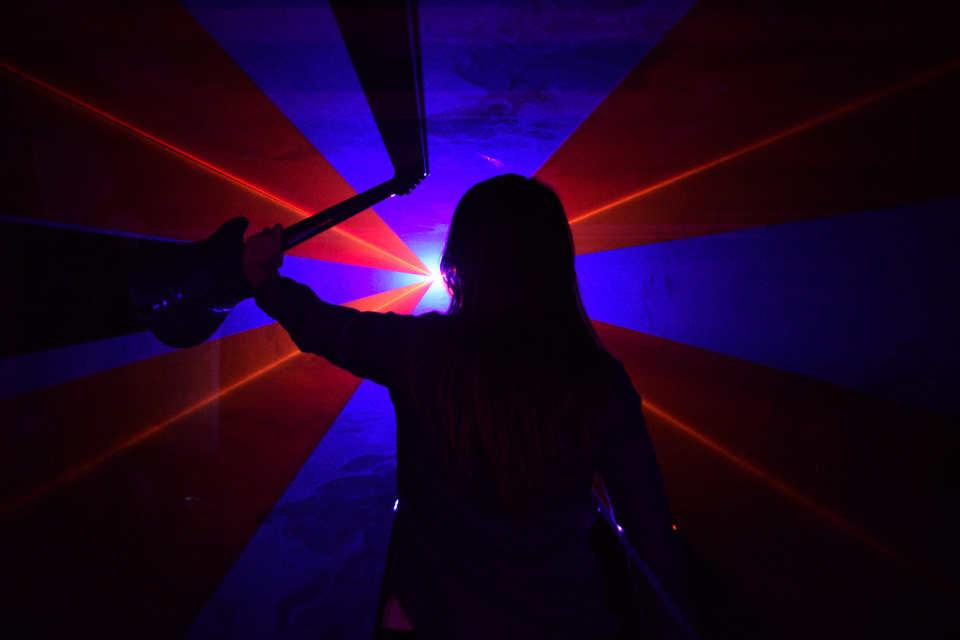 Laser Photo Shoot 3 - DJ Martin Lake