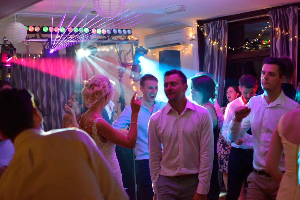 The Laser Show At A Wedding - DJ Martin Lake