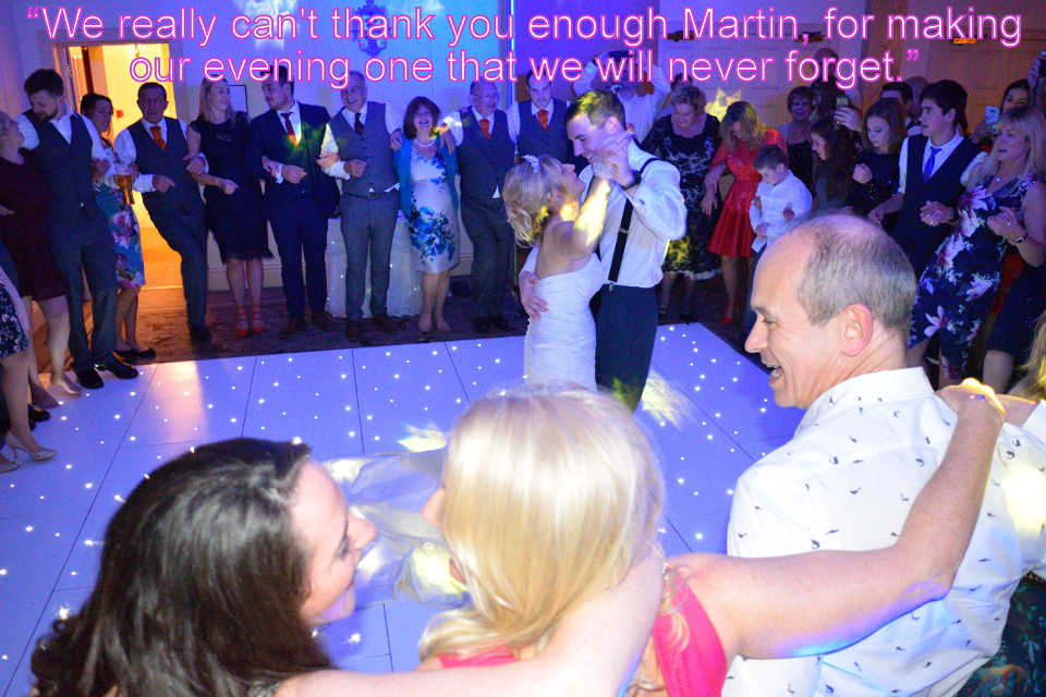 Wedding At Careys Manor - DJ Martin Lake