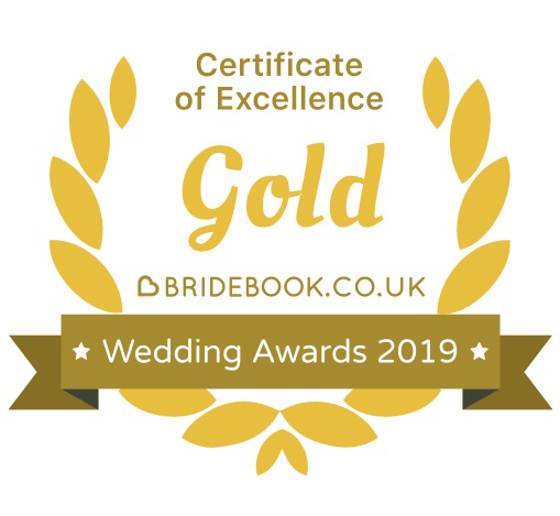 Bridebook Gold Certificate Of Excellence 2019 - DJ Martin Lake