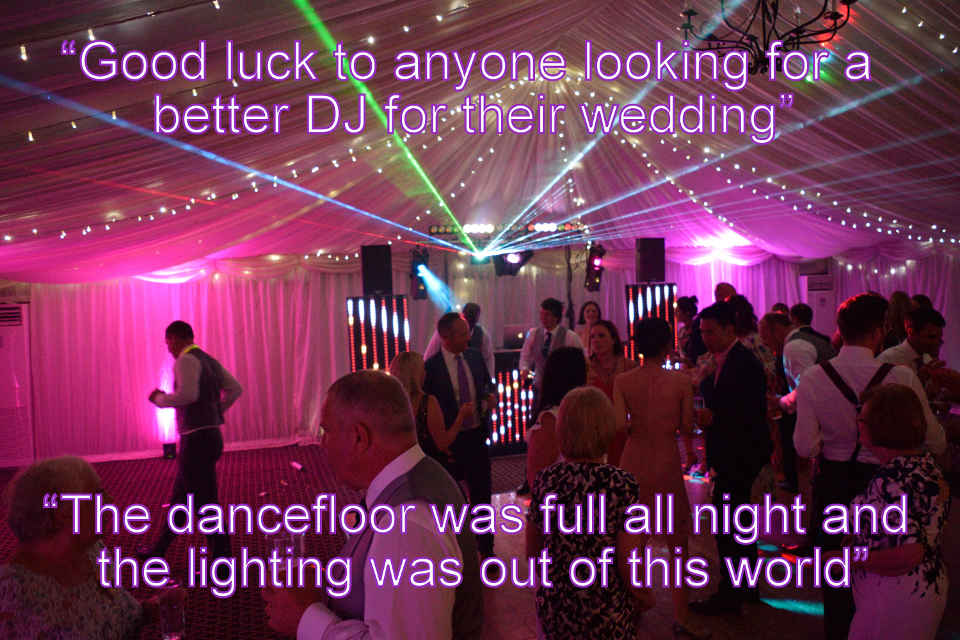 Pixel Laser Show Wedding At Audleys Wood