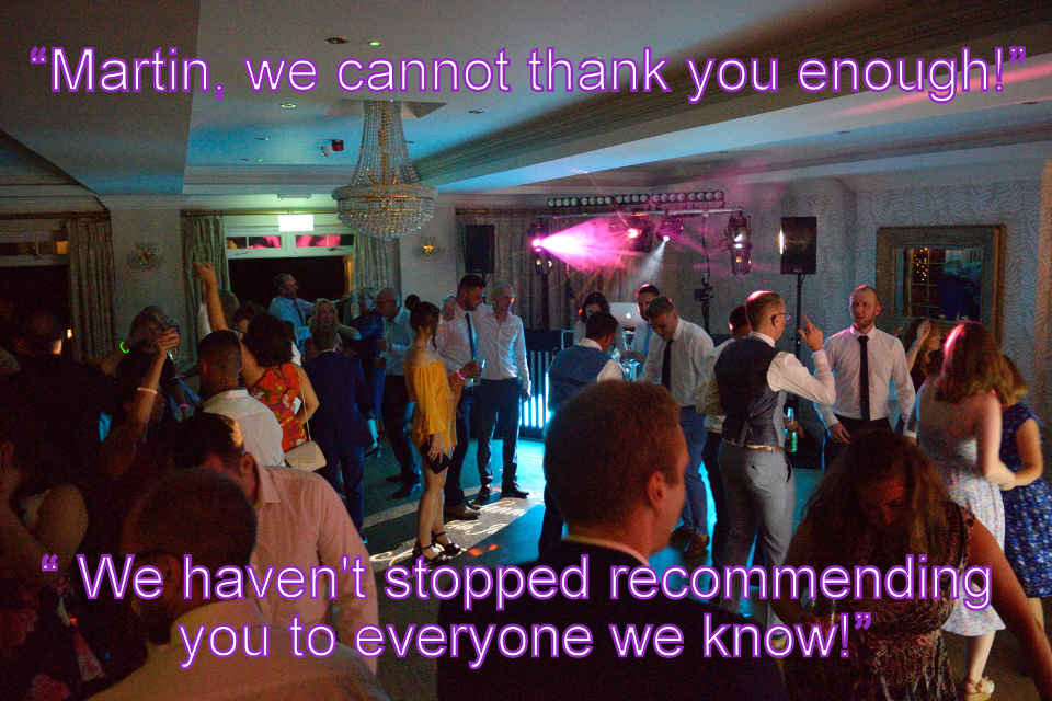 Hannah & Joe - Beaulieu Hotel Wedding DJ Martin Lake